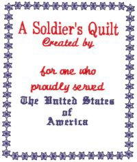 Military Quilt Labels